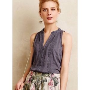 Anthro Meadow Rue Mireya Embroidered Top sz M